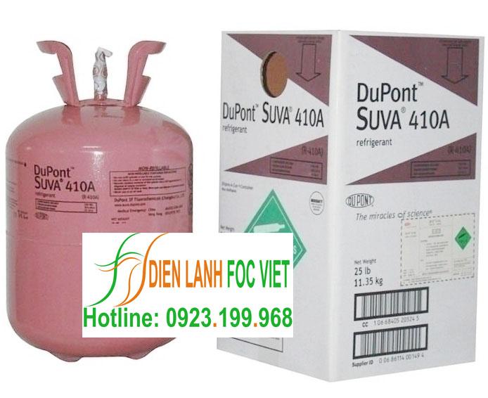 Chuyên phân phối gas lạnh Dupont Suva R410A