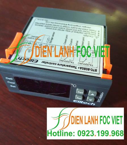 hướng dẫn điều khiển nhiệt độ Elitech STC-8080A