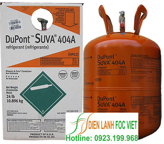 gas lạnh R404A dupont Suva