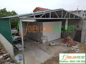 Lắp kho lạnh bảo quản khoai giống tại Bắc Giang