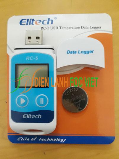 Thiết bị ghi nhiệt độ tự động Elitech RC-5