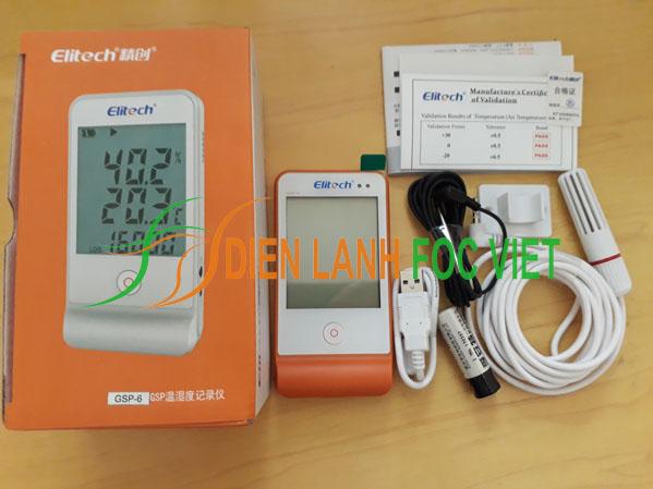 Thiết bị đo ghi nhiệt độ và độ ẩm Elitech GSP-6